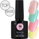 """Гель-лаки SAGA """"Base, Top"""" (Базовые и топовые покрытия)"""