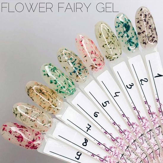 Гель SAGA Flower Fairy Gel №6 с сухоцветами, 5 мл, Все варианты для вариаций: 6 2