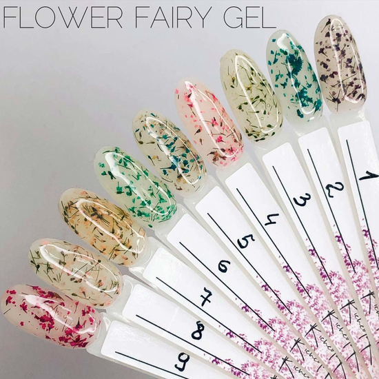 Гель SAGA Flower Fairy Gel №4 с сухоцветами, 5 мл, Все варианты для вариаций: 4 2